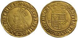 World Coins - Elizabeth I gold Half-Pound, second issue mm crosslet, superb example