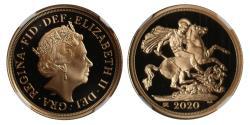World Coins - Elizabeth II 2020 Sovereign PF70 ULTRA CAMEO