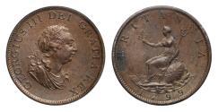 World Coins - George III 1799 Halfpenny MS64BN