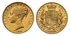 World Coins - Victoria 1845 Sovereign
