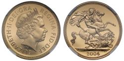 World Coins - Elizabeth II 2004 proof Two-Pounds PF70 ULTRA CAMEO