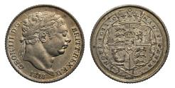 World Coins - George III 1818 Sixpence