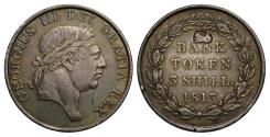 World Coins - George III Bank Token with puffin countermark, attributed to Ireland