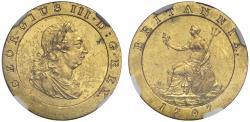 World Coins - George III 1797 gilt pattern Farthing PF58