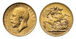World Coins - George V 1922 P Sovereign, Perth Mint