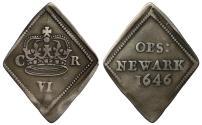 World Coins - Charles I 1646 Newark Sixpence
