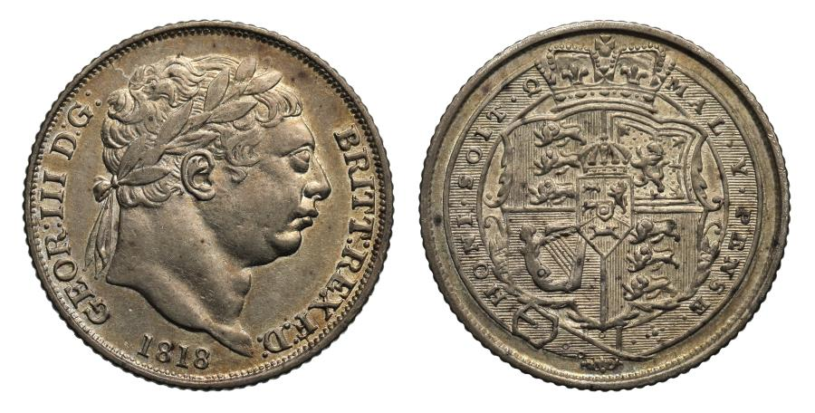 World Coins - George III 1818 Sixpence