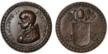 World Coins - St Damasus., cast bronze medal.