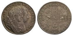World Coins - William and Mary 1693 Shilling