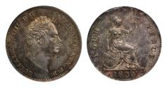 World Coins - William IV 1836 proof Groat milled edge CGS 88