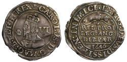 World Coins - Charles I 1646 Sixpence, Bridgenorth-on-Severn mint