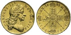 World Coins - Charles II 1683 Five-Guineas, final type