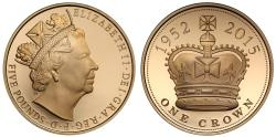 "World Coins - Elizabeth II 2015 gold Crown, ""The Longest Serving Monarch"""