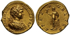 Ancient Coins - Caracalla, Gold Aureus NGC MS
