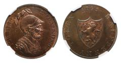 World Coins - Middlesex 1795 Token Halfpenny MS64RB