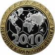 World Coins - German coins and medals from 1945, BUNDESREPUBLIK DEUTSCHLAND. Fußball, Medaille 2010, Proof