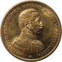 Ancient Coins - German coins and medals from 1871, Preußen; Wilhelm II, 20 Mark 1913 A, Gold, EF-UNC