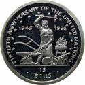 World Coins - Vereinigte Staaten / USA / United States. Isle of Man 15 Ecus 1995 ,  Silver , Proof