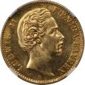 Ancient Coins - German coins and medals from 1871, Bayern; Ludwig II, 10 Mark 1874 D, Gold, NGC MS-62