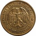 World Coins - German coins and medals from 1871, WEIMARER REPUBLIK. Eichbaum. 5 Mark 1928 D, Silver, VF-EF