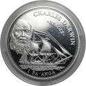 World Coins - Tonga CHARLES DARWIN 1 Pa'anga 2005 , Silver , KM 218 , Proof