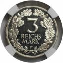 World Coins - German coins and medals from 1871, WEIMARER REPUBLIK. Rheinlande. 3 Mark 1925 , Silver, NGC PF-64 Cameo