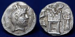 Ancient Coins - Persis AR Drachm KINGS of PERSIS. Uncertain King I. 2nd century B.C. AR drachm(17mm,4.24g)