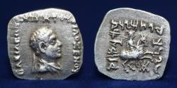 Ancient Coins - Indo-Greek Kingdom, Philoxenos (c.100-95 B.C.) Silver Square Drachm, 2.41g, 19mm, EF