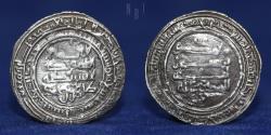 World Coins - Persia (Pre-Seljuq). Saffarids Dirham. Tahir ibn Muhammad, Shiraz, AH 289, 2.48gm, 26mm.