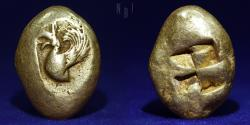 Ancient Coins - MYSIA. Kyzikos. Circa 550-450 BC. Stater (Electrum) 16.15gm. A VERY RARE TYPE