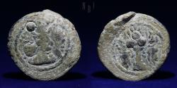 Ancient Coins - SASANIAN KINGS Shahpur II. 309-379 AD. AE Pashiz. 4.26g, 19mm, VERY RARE