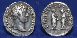 Ancient Coins - Roman Empire, Hadrian, 117-138, AR Denarius, 3.30g, 19mm, VF & R