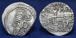 Ancient Coins - Parthian Empire Osroes II, AR Drachm. (208-228 AD) silver drachm. Mint Ecbatana. 3.73g, 20mm, EF