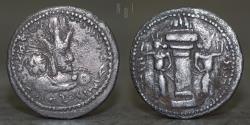 Ancient Coins - Sasanian Empire, Shapur I (241-272) silver hemidrachm, 1.95g, 19mm, VF & RR