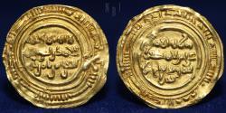 World Coins - Ziyadid AV Dinar, Ali b. Al'Muzaffar (434-442h). mint of zabid, dated: 440h?, 2.50gm, 24mm.