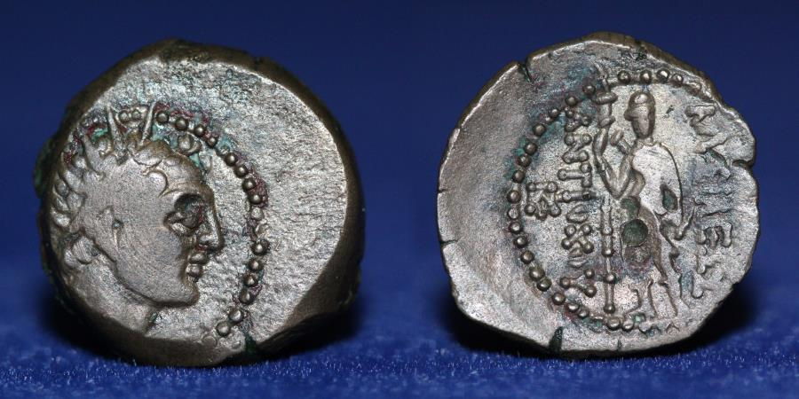 Ancient Coins - SELEUKID KINGDOM Antiochos IV Epiphanes. 175-164 BC. Æ (16 mm, 3.93 g) Ake-Ptolemaïs. GOOD VF
