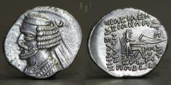 Ancient Coins - Kings of Parthia. Orodes II. Mithradatkart (Nisa) mint AR Drachm, Date: 57-38 BC, 3.84g, 21mm, EF