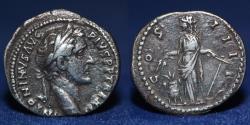 Ancient Coins - ROMAN Imperial Antoninus Pius AD 153-154, AR Denarius, 2.93g, 18mm.