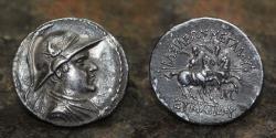 Ancient Coins - BACTRIAN EUCRATIDES I AR Silver Tetradrachm, C. 171-145 BCE, 16.97g, 33mm.