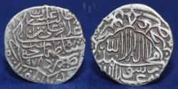 World Coins - Safavids Tahmasp I. AH 930-984 / AD 1524-1576. AR Shahi. Yazd mint. AH 978, 2.30g, 18mm, About EF