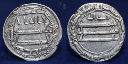World Coins - ABBASID Temp Al-Rashid (170-193h) Dirham, Madinat al,Salam 193h, 2.90g, 22mm, ABOUT EF