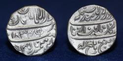 "World Coins - INDIA SIKH Silver Rupee Lahore, VS 1822, ""Guru Gobind Singh"" legend. 11.45g, 22mm, EF & R"