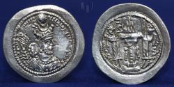Ancient Coins - SASANIAN KINGS Vahram (Bahram) V. AD 420-438. AR drachm. Mint AS (Aspanvar) 3.96g, 29mm, EF