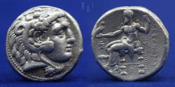 Ancient Coins - Alexander III, the Great; 336-323 B.C. AR tetradrachm under Seleukos I, Nikator, 17.22g, 25mm, R