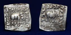 Ancient Coins - BAKTRIA Greco-Baktrian Kingdom. Apollodotos I, circa 174-165 BC. Drachm 2.37g, 20mm, VF & R
