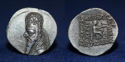 Ancient Coins - PARTHIA Ancient Persia. King Orodes I, 90-80 BC. Silver Drachm, 3.92g, 20mm.