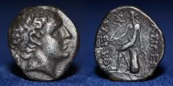 Ancient Coins - SELEUCID KINGDOM Demetrios I AR Drachm, 3.97g, 17mm, VERY FINE & VERY RARE