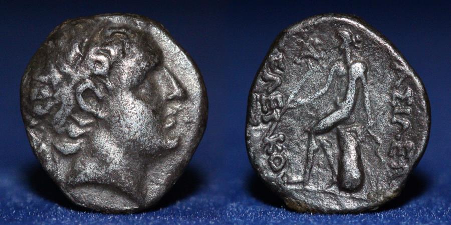 Ancient Coins - SELEUCID KINGDOM Demetrios I AR Drachm, 3.97g, 17mm, VERY FINE & VERY RARE