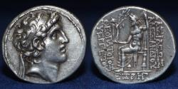 Ancient Coins - SELEUCID KINGDOM Alexander I Balas AR Tetradrachm, Antioch, Dated SE 164 (149/8) BC, 16.72g, ABOUT EF R