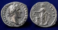 Ancient Coins - ANTONINUS PIUS AR Denarius 147-148 Rome 19mm, 2.97g, GOOD VF